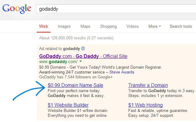99 cents domains